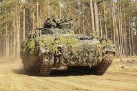 """Der Schützenpanzer Marder ist unter anderem bei der NATO-Mission Enhanced Forward Presence in Litauen im Einsatz. / Bild: """"obs/Presse- und Informationszentrum AIN/© 2019 Bundeswehr/PAO EF"""""""