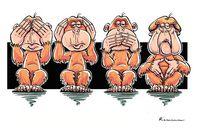 Affentheater oder Die 4-Affen (Symbolbild)