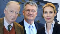 Prof. Dr. Jörg Meuthen, Dr. Alice Weidel und Dr. Alexander Gauland (2018)