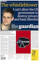 The Guardian Titelseite vom 10. Juni 2013. Bild: wikipedia.org