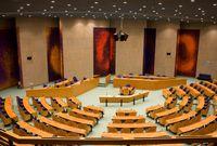 Der Plenarsaal der Tweede Kamer in Den Haag