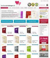 Screenshot der Webseite von familieneinladungen.de