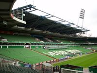 Das Weserstadion in Bremen ist das Fußballstadion des deutschen Fußball-Bundesligisten Werder Bremen.