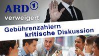 """Bild: Screenshot Video: """" ARD verweigert Gebührenzahlern kritische Diskussion"""" (www.kla.tv/18866) / Eigenes Werk"""