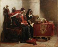Der Papst und der Inquisitor (Gemälde von Jean Paul Laurens, 1882), Symbolbild
