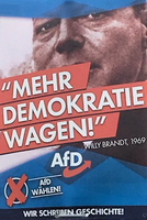 AfD Wahlplakat mit Willy Brandt
