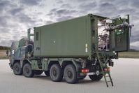 Der geschützte Verwundetentransportcontainer (GVTC) dient dem Transport von bis zu acht stabilisierten Patienten auf dem Landweg.  Bild: Bundeswehr Fotograf: PIZ Ausrüstung, Informationstechnik und Nutzung