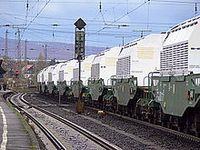 Transport von Castor-Behältern Bild: de.wikipedia.org