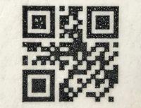 QR-Code: Tinte hinterlässt Punkte.