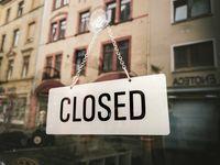 geschlossenes Geschäft