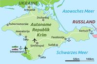Karte der Halbinsel Krim