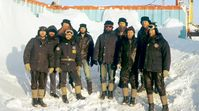 Die Polarforscher von der DDR-Antarktisstation Georg Forster im Oktober 1989 Bild: MDR/Ulf Bauerschäfer  (ots)