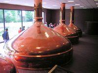 Sudpfannen in einer Brauerei