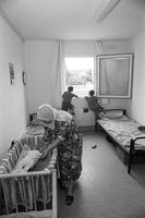 In einer Unterkunft für Asylbewerber