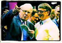 """Warren Buffett und William """"Bill"""" Henry Gates III, Archivbild"""