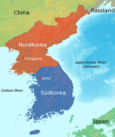 Das heute in Nord- und Südkorea geteilte Korea
