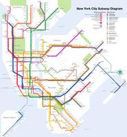 Das New Yorker U-Bahn-Netz (Stand: 2011)