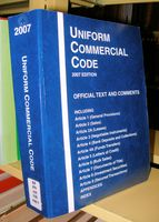 Band der 2007er-Ausgabe des Uniform Commercial Code (UCC), deutsch Einheitliches Handelsgesetzbuch oder auch Römisches Seerecht