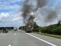 Fahrzeugbrand A1 Bild: Polizei