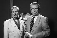 """Sabine Zimmermann und ihr Vater Eduard Zimmermann im Jahr 1994.  Bild: """"obs/ZDF/Hermann Roth"""""""
