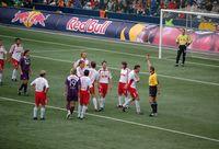 Rote Karte beim Fußball