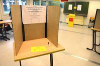 Wahlurne: Stimmen werden abgegeben in eine Urne und danach in Regierungspräsidien begraben... (Symbolbild)