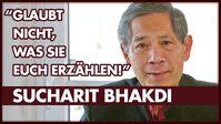 """Bild: SS Video: """"Sucharit Bhakdi: Wie lange lasst Ihr Euch noch anlügen?"""" (https://open.lbry.com/@eingeSCHENKt:0/Interview-Sucharit-Bhakdi-LBRY:2) / Eigenes Werk"""