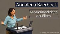 """Bild: Screenshot Video: """"Annalena Baerbock - die Kanzlerkandidatin der Eliten"""" (www.kla.tv/18808) / Eigenes Werk"""