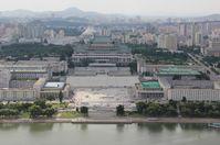 Panoramablick auf Pjöngjang, Archivbild