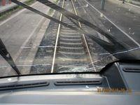 Beschädigte Scheibe der Regionalbahn; Bild: Bundespolizeiinspektion Kassel