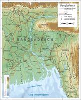 Physisch-politische Karte von Bangladesch