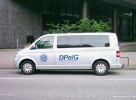 Ein Fahrzeug der Deutsche Polizeigewerkschaft im DBB (DPolG)