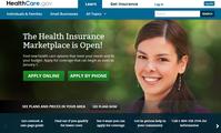 Screenshot von der Webseite https://www.healthcare.gov