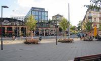 Sitz der Frankfurter Rundschau im Sachsenhäuser Depot am Karl-Gerold-Platz