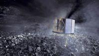 Künstlerische Darstellung der Landung der Sonde auf einem Kometen