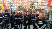 Demonstration für die Freilassung der inhaftierten katalanischen Ex-Regierungsmitglieder in Barcelona im November 2017.