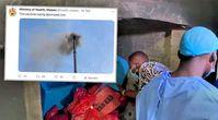 Gesundheitsministerin Khumbize Kandodo Chiponda legte bei der Impfstoff-Verbrennung sogar selbst Hand an Bild: Screenshot Twitter / WB / Eigenes Werk