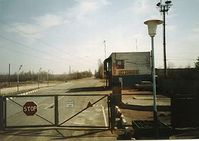 Eingangsposten zur 30-Kilometer-Zone von Tschernobyl. Bild: Slawojar