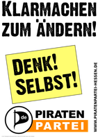 Plakat der Piratenpartei  (Symbolbild)