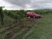 Unfallbeschädigtes Fahrzeug Bild: Polizei