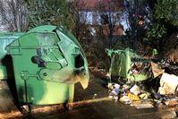 Verbrannte Mülltonnen Bild: Polizei