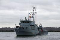 Auslaufen der Dillingen aus dem Heimathafen Kiel