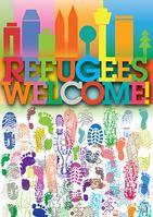 """Refugees welcome = """"Flüchtlinge willkommen"""" - Laut UN-Flüchtlingskonvention gibt es in Deutschland keine Flüchtlinge sondern Wirtschaftseinwanderer (Symbolbild)"""