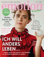 """EMOTION Verlag GmbH, Titelbild zu Ausgabe 02/2020, EVT: 08.01.2020, Titelthema: """"Ich will anders leben..."""". Bild: """"obs/EMOTION Verlag GmbH"""""""