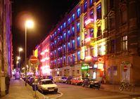 Das Rotlichtviertel von Frankfurt am Main bei Nacht