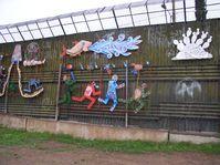 Grenzzaun von mexikanischer Seite in Nogales