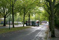 Einfahrt zum militärischen Teil des Flughafens Berlin-Tegel