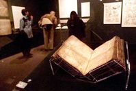 Archimedes-Palimpsest im Field Museum in Chicago