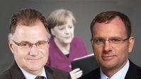 Jürgen Braun und Dirk Spaniel, MdB, MdB, Abgeordnete der AfD-Bundestagsfraktion
