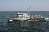 Minenjagdboot SULZBACH-ROSENBERG in Fahrt Bild: Bundeswehr